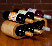6-Bottle Bamboo Wine Rack